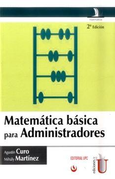 portada Matematica Basica Para Administradores