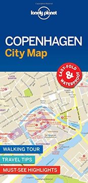 portada Lonely Planet Copenhagen City Map (libro en Inglés)