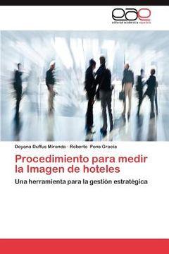portada procedimiento para medir la imagen de hoteles