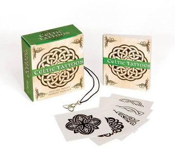 portada Celtic Tattoos: Includes Trinity Pendant Necklace (Running Press Mini Kits) (libro en inglés)
