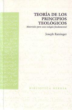 portada Teoría de los Principios Teológicos: Materiales Para una Teología Fundamental (Biblioteca Herder)
