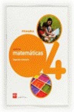 portada Cuaderno de matemáticas. 4 Primaria, 2 Trimestre. Conecta 2.0