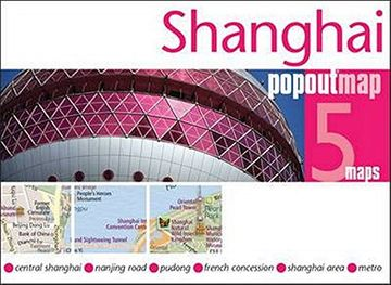 portada Shanghai Popout map (Popout Maps) (libro en Inglés)