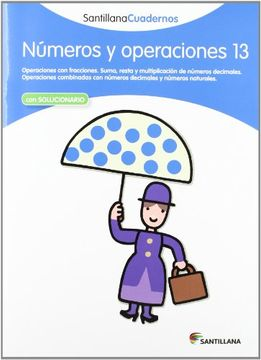 portada Números y Operaciones 13 Santillana Cuadernos (Con Solucionario)
