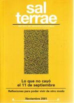 portada Sal Terrae, Revista De Teología Pastoral. Noviembre 2001. Tomo 89 / 10 (N. 1050)