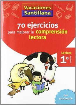 portada Vacaciónes Santillana, lectura, comprensión lectora, 1 Educación PriMaría. Cuaderno