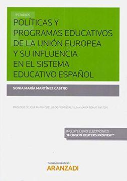 portada Políticas y Programas Educativos de la Unión Europea y su Influencia en el Sistema Educativo Español (Papel + E-Book) (Monografía)