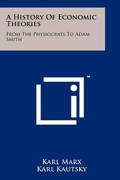 portada a history of economic theories: from the physiocrats to adam smith