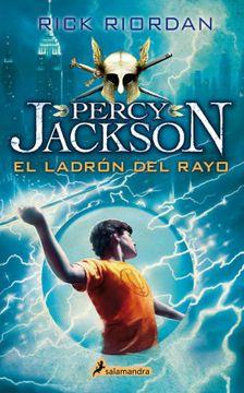 portada Percy Jackson y el ladrón del rayo