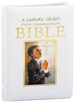 portada Catholic Child's First Communion Gift Bible-NAB-Boy (Regina Press)