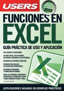 portada Funciones en Excel: Espanol, Manual Users, Manuales Users