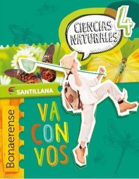 portada Ciencias Naturales 4 Bonaerense  Santillana Va Con Vos
