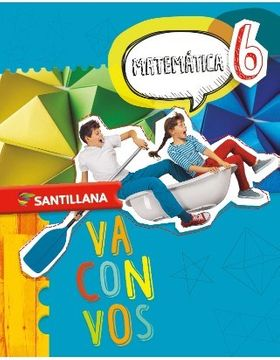 portada Matematica 6  Santillana Va Con Vos