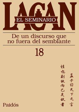 portada Seminario 18 de un Discurso que no Fuera del Semblante