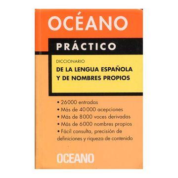 portada Diccionario Oceano Practico de la Lengua Española y de Nombres Propios
