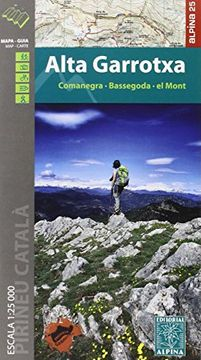 portada Alta Garrotxa, mapa excursionista. Escala 1:25.000. Editorial Alpina.