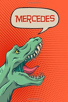 """portada Mercedes: Personalized Dino Drawl and Write, Writing Practice Paper for Kids Notebook With Lined Sheets and Space to Doodle for k-5 Students 120 Pages 6""""X9"""" (libro en inglés)"""