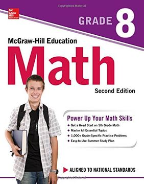 portada Mcgraw-Hill Education Math Grade 8, Second Edition (libro en inglés)