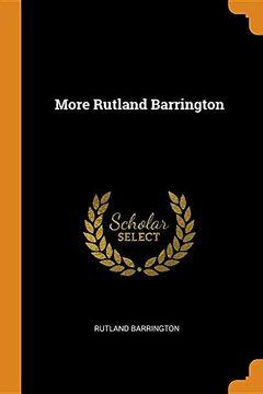 portada More Rutland Barrington (libro en inglés)