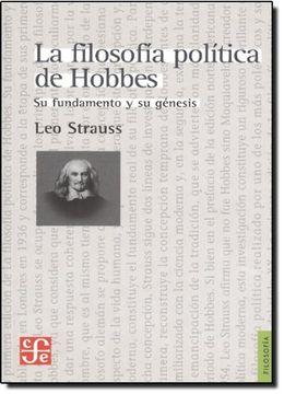 portada La Filosofía Política de Hobbes. Su Fundamento y su Génesis