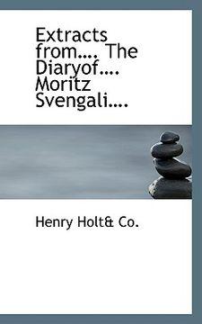 portada extracts from. the diaryof. moritz svengali.