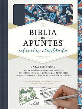 portada Rvr 1960 Biblia de Apuntes, Edición Ilustrada, Tela en Rosado y Azul