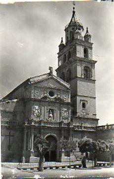 portada tarjeta postal: calahorra. 1. catedral. vista general.
