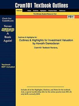 portada studyguide for investment valuation by aswath damodaran, isbn 9780471414902
